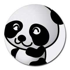 Adorable Panda Round Mousepads