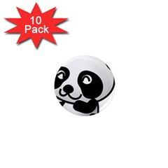 Adorable Panda 1  Mini Magnet (10 pack)
