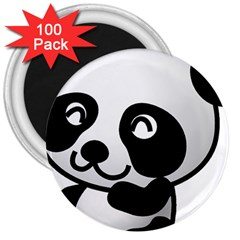 Adorable Panda 3  Magnets (100 pack)