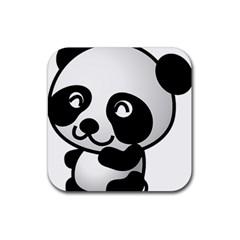 Adorable Panda Rubber Coaster (Square)