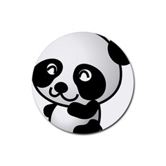 Adorable Panda Rubber Round Coaster (4 pack)