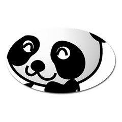 Adorable Panda Oval Magnet