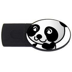 Adorable Panda USB Flash Drive Oval (1 GB)