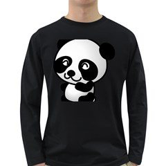 Adorable Panda Long Sleeve Dark T-Shirts