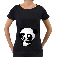 Adorable Panda Women s Loose-Fit T-Shirt (Black)
