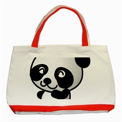 Adorable Panda Classic Tote Bag (Red)