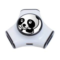 Adorable Panda 3-Port USB Hub