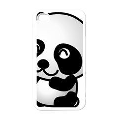 Adorable Panda Apple iPhone 4 Case (White)