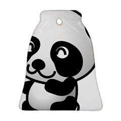 Adorable Panda Bell Ornament (Two Sides)