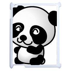 Adorable Panda Apple iPad 2 Case (White)
