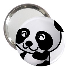 Adorable Panda 3  Handbag Mirrors