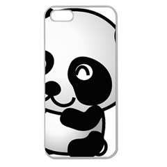 Adorable Panda Apple Seamless iPhone 5 Case (Clear)