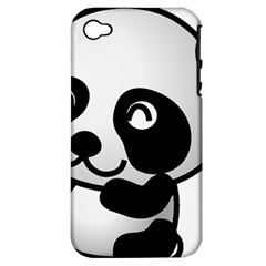 Adorable Panda Apple iPhone 4/4S Hardshell Case (PC+Silicone)