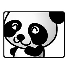 Adorable Panda Double Sided Fleece Blanket (Small)