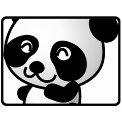 Adorable Panda Double Sided Fleece Blanket (Large)