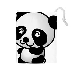Adorable Panda Drawstring Pouches (Large)