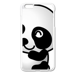 Adorable Panda Apple iPhone 6 Plus/6S Plus Enamel White Case