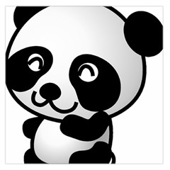 Adorable Panda Large Satin Scarf (Square)