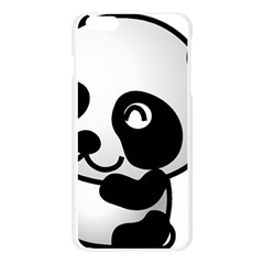 Adorable Panda Apple Seamless iPhone 6 Plus/6S Plus Case (Transparent)