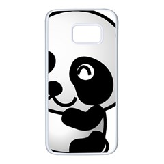 Adorable Panda Samsung Galaxy S7 White Seamless Case