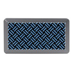 Woven2 Black Marble & Blue Colored Pencil Memory Card Reader (mini)