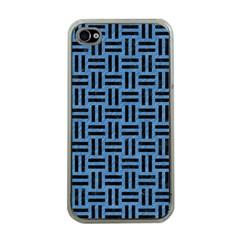 WOV1 BK-MRBL BL-PNCL (R) Apple iPhone 4 Case (Clear)