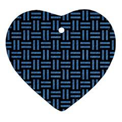 WOV1 BK-MRBL BL-PNCL Heart Ornament (Two Sides)