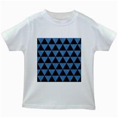 TRI3 BK-MRBL BL-PNCL Kids White T-Shirts