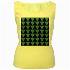 TRI2 BK-MRBL BL-PNCL Women s Yellow Tank Top