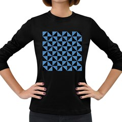 TRI1 BK-MRBL BL-PNCL Women s Long Sleeve Dark T-Shirts