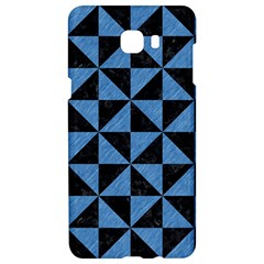 Triangle1 Black Marble & Blue Colored Pencil Samsung C9 Pro Hardshell Case