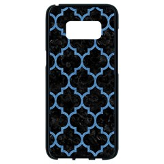 Tile1 Black Marble & Blue Colored Pencil Samsung Galaxy S8 Black Seamless Case