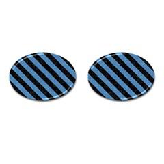 STR3 BK-MRBL BL-PNCL (R) Cufflinks (Oval)