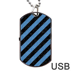 STR3 BK-MRBL BL-PNCL Dog Tag USB Flash (Two Sides)