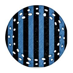 STR1 BK-MRBL BL-PNCL Ornament (Round Filigree)