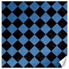 SQR2 BK-MRBL BL-PNCL Canvas 12  x 12