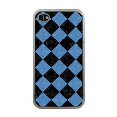 SQR2 BK-MRBL BL-PNCL Apple iPhone 4 Case (Clear)