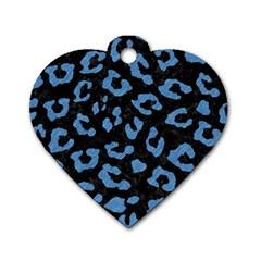 SKN5 BK-MRBL BL-PNCL (R) Dog Tag Heart (Two Sides)