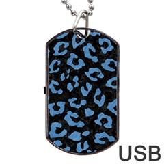 SKN5 BK-MRBL BL-PNCL (R) Dog Tag USB Flash (One Side)