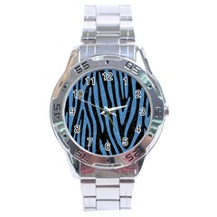 SKN4 BK-MRBL BL-PNCL (R) Stainless Steel Analogue Watch