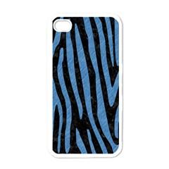 SKN4 BK-MRBL BL-PNCL (R) Apple iPhone 4 Case (White)