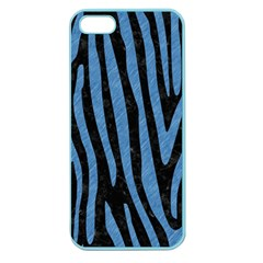 Skin4 Black Marble & Blue Colored Pencil (r) Apple Seamless Iphone 5 Case (color)