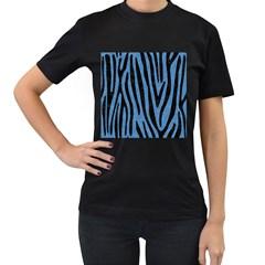 SKN4 BK-MRBL BL-PNCL Women s T-Shirt (Black) (Two Sided)