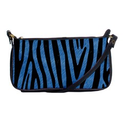 Skin4 Black Marble & Blue Colored Pencil Shoulder Clutch Bag