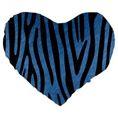 SKN4 BK-MRBL BL-PNCL Large 19  Premium Heart Shape Cushions