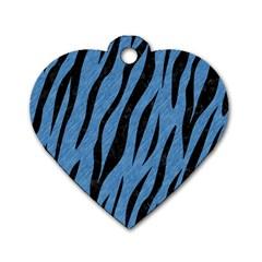 SKN3 BK-MRBL BL-PNCL (R) Dog Tag Heart (One Side)