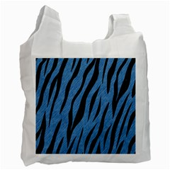 Skin3 Black Marble & Blue Colored Pencil (r) Recycle Bag (one Side)