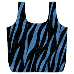 Skin3 Black Marble & Blue Colored Pencil Full Print Recycle Bag (xl)