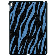 Skin3 Black Marble & Blue Colored Pencil Apple Ipad Pro 9 7   Black Seamless Case