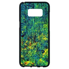 Flowers Abstract Yellow Green Samsung Galaxy S8 Black Seamless Case
